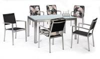 Set sillas y mesa estructura aluminio modelo ALLAX