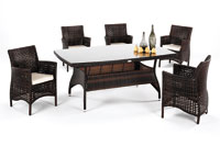 Set de sillones, mesa y cojines modelo ALMAZARA