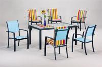 Set sillas y mesa estructura aluminio modelo AMAZONAS