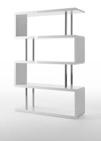 Moderna estanter�a MDF lacada - Moderna estanter�a MDF lacada en blanco brillo
