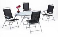 Set sillas y mesa de acero modelo ANTILLA