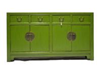 Aparador  Chino verde - Aparador oriental de China color verde