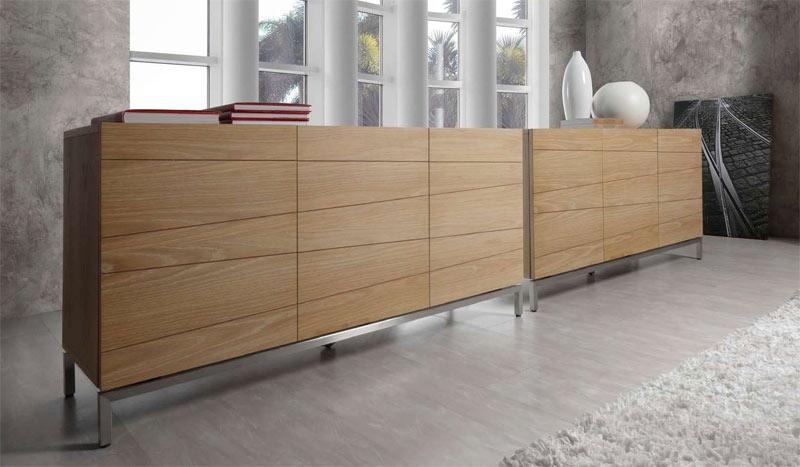Aparador de chapa de madera natural oakland muebles de for Muebles de chapa