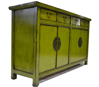 Aparador  Chino verde Olmo - Aparador oriental de China color verde 2