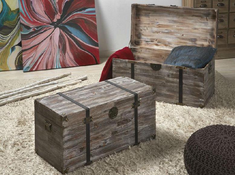 Baules de madera antiguos for Baules de madera para exterior
