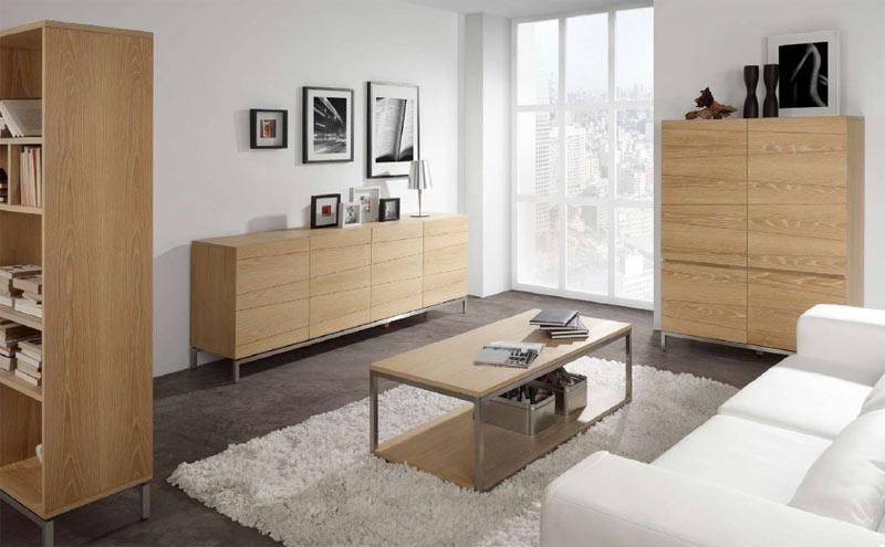 Armario de chapa de madera natural oakland muebles de for Armario madera natural