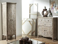 Armario � mueble auxiliar de madera tallada natural - Armario o mueble auxiliar de madera tallada natural