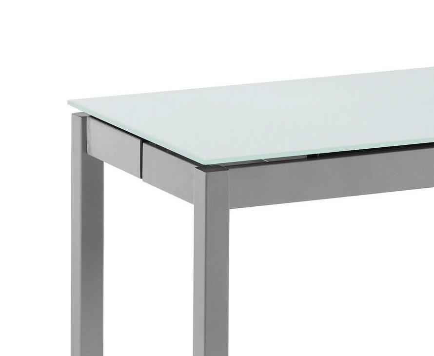 Mesa de cocina extensible cristal cocina y office mesas y for Mesas de cocina extensibles