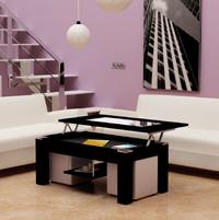 Mesa de centro con tablero elevable y puffs varios modelos