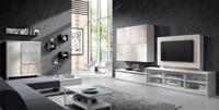 Sal�n moderno 2905 colecci�n KAY - Muebles de sal�n 2905 colecci�n KAY, Composici�n modular para el sal�n y el comedor que combina los colores Fresno y los detalles de los muebles en color Vintage