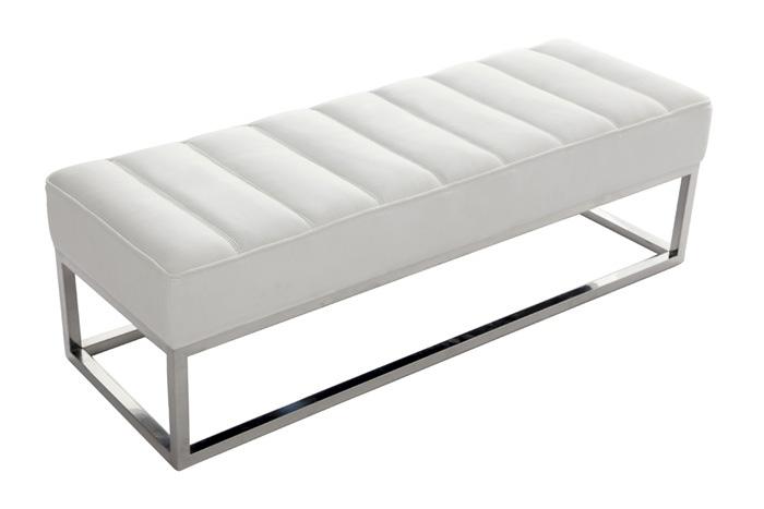 Banco pie de cama piel sint tica bancos y pie de cama - Pie de cama ...