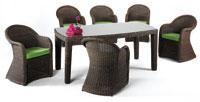 Set de sillones y mesa modelo BASAURI