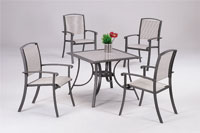 Set sillas y mesa estructura aluminio modelo BESUT