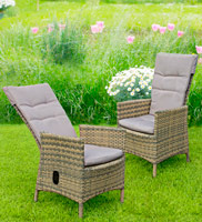 Sillón reclinable Lutter - Sillón reclinable Lutter para exteriores