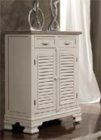 Aparador pequeño o mueble auxiliar blanco roto 2