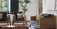 Set sofá, sillón y mesa ratán BLOIS