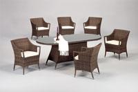Set de sillones y mesa modelo BRASILIA