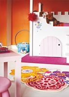 """Alfombra para niños """"Fleur"""" - Alfombra para niños """"Fleur"""", ideal para dar un toque de colorido al cuarto de los reyes de la casa."""