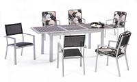 Set sillas y mesa estructura aluminio modelo BRUGADIN