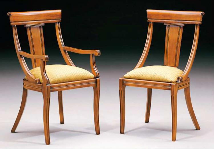 Silla y sill n cl sicos 7 muebles de comedor muebles de - Sillas comedor clasicas tapizadas ...
