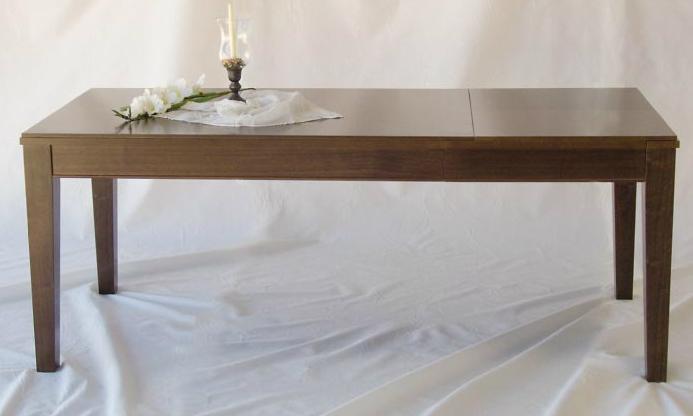 Mesa comedor extensible rectangular 2 - Disponible en tres tamaños