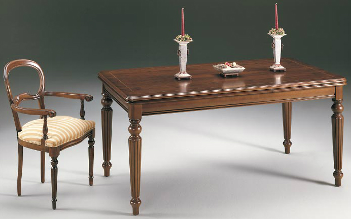 Mesa comedor extensible forma rectangular - Disponible en 3 tamaños