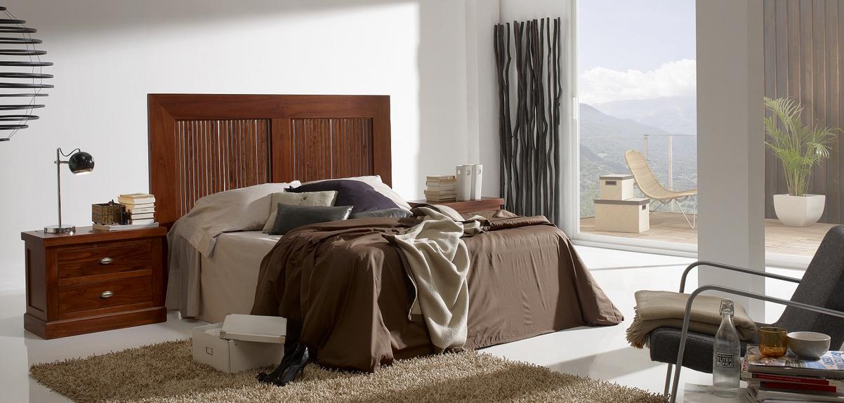 Cabecero madera y bamb som43 cabeceros camas y mesillas - Cabecero de bambu ...