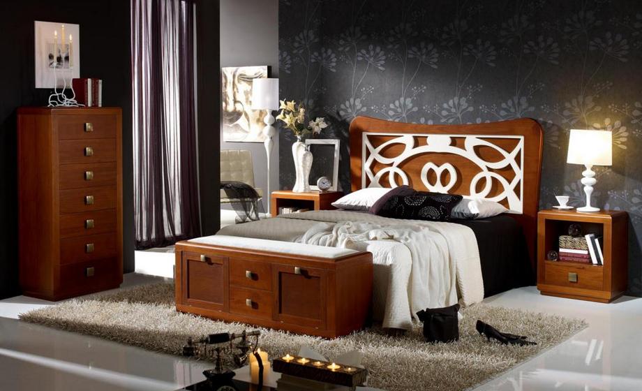 Cabecero madera tapizado o forja som65 cabeceros camas y for Cabeceros de madera tapizados