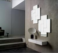 Consola con espejo tetris