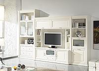 Librería blanca para salón modelo Darwin 18