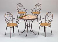 Set sillas y mesa mosaico modelo CANES