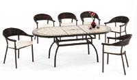 Set sillas y mesa mosaico modelo CASINO/MURANO