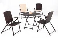 Set sillas y mesa de acero modelo CLIPPER
