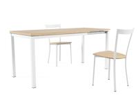 Mesa de comedor Toy Metal  - Mesa extensible Toy metal de estilo nórdico con estructura de madera