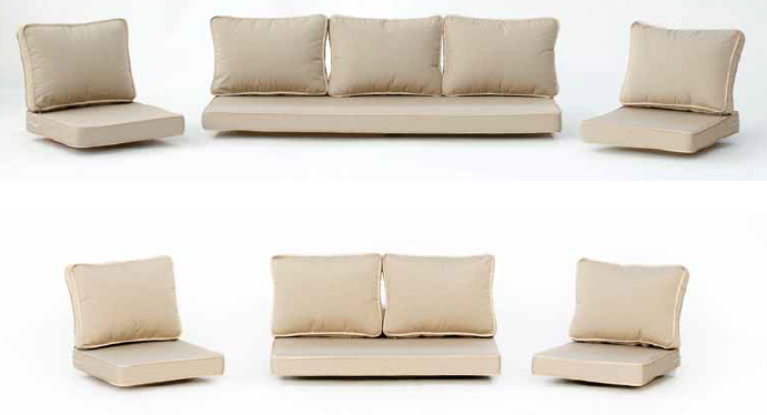 Decoracion mueble sofa cojines de exterior for Cojines sofa exterior