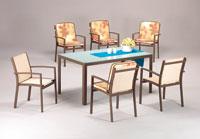 Set sillas y mesa estructura aluminio modelo COLORADO