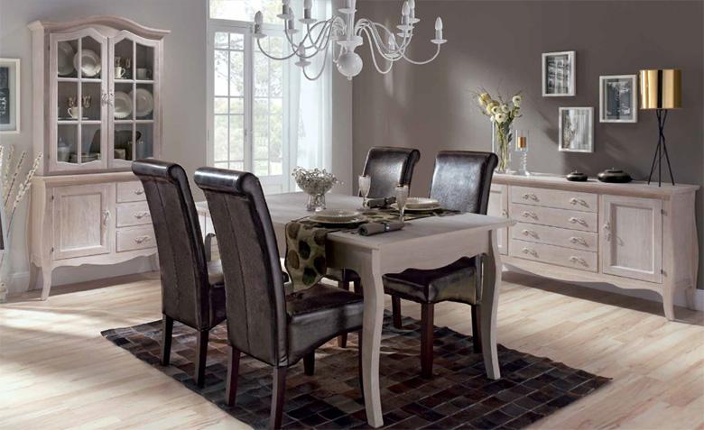 Aparador decapado muebles de comedor muebles de interior for Comedor vintage blanco