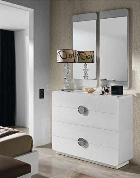 Dormitorio espejos conjunto sinfonier chiffonier teruel for Espejos comoda dormitorios