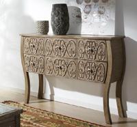 C�moda de madera natural tallada - C�moda de madera o entrada de madera tallada