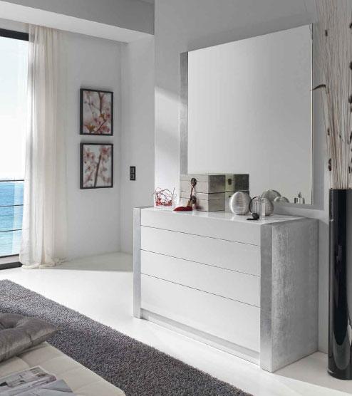 Espejo vestidor c moda dormitorio modernos valladolid burgos for Comodas dormitorio matrimonio