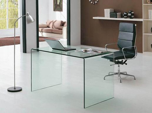 Mesa de despacho de cristal modelo conco escritorio y sillones muebles de interior todos mia home - Mesas de despacho de cristal ...