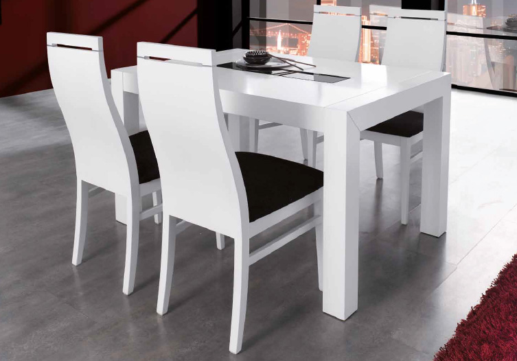 Conjunto mesa y sillas modernas car interior design - Comoda mesa extensible ...