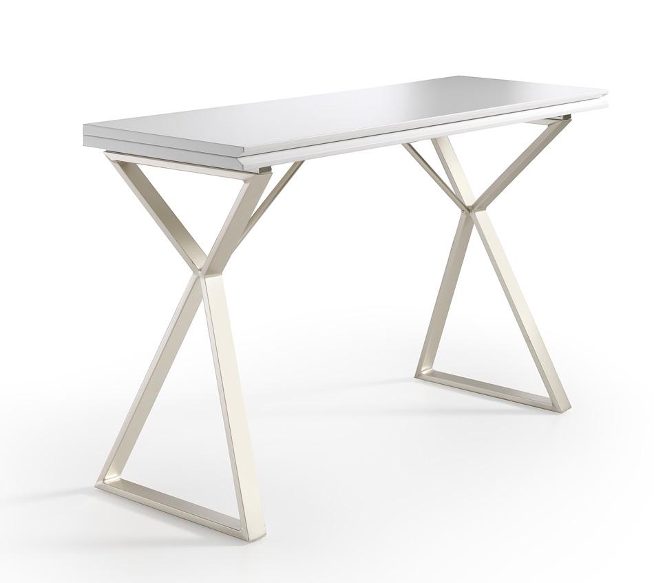 Mesa de cocina extensible blanca cocina y office mesas y for Mesa cocina blanca