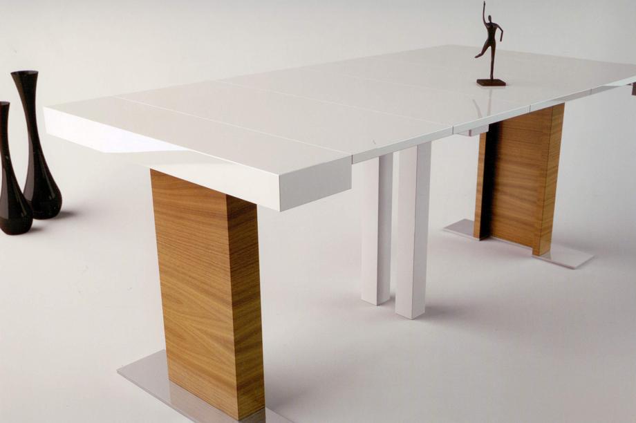Consola mesa extensible mesas de comedor muebles de for Mesa consola extensible