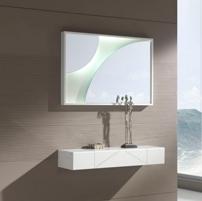 Consola de colgar o espejos - Espejo de circulos o consola moderna peque�a