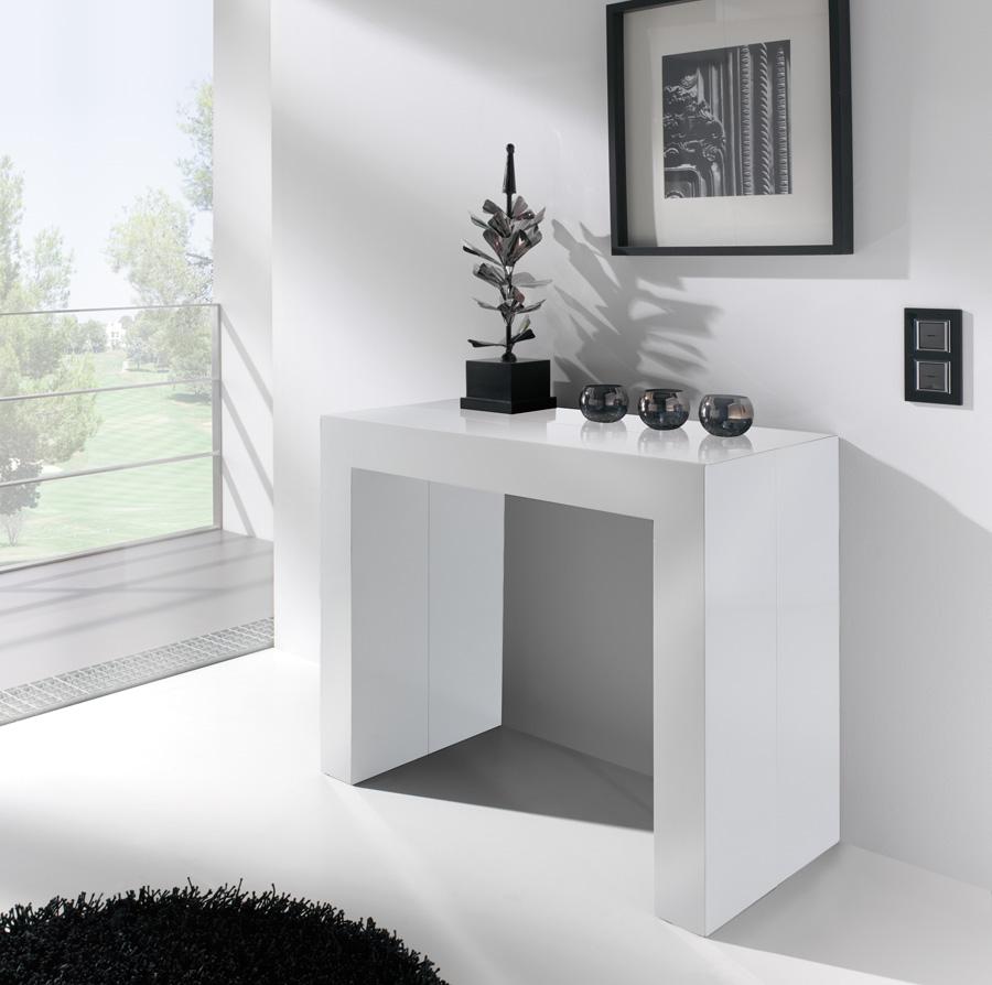Decorar cuartos con manualidades: Mesa consola extensible ...