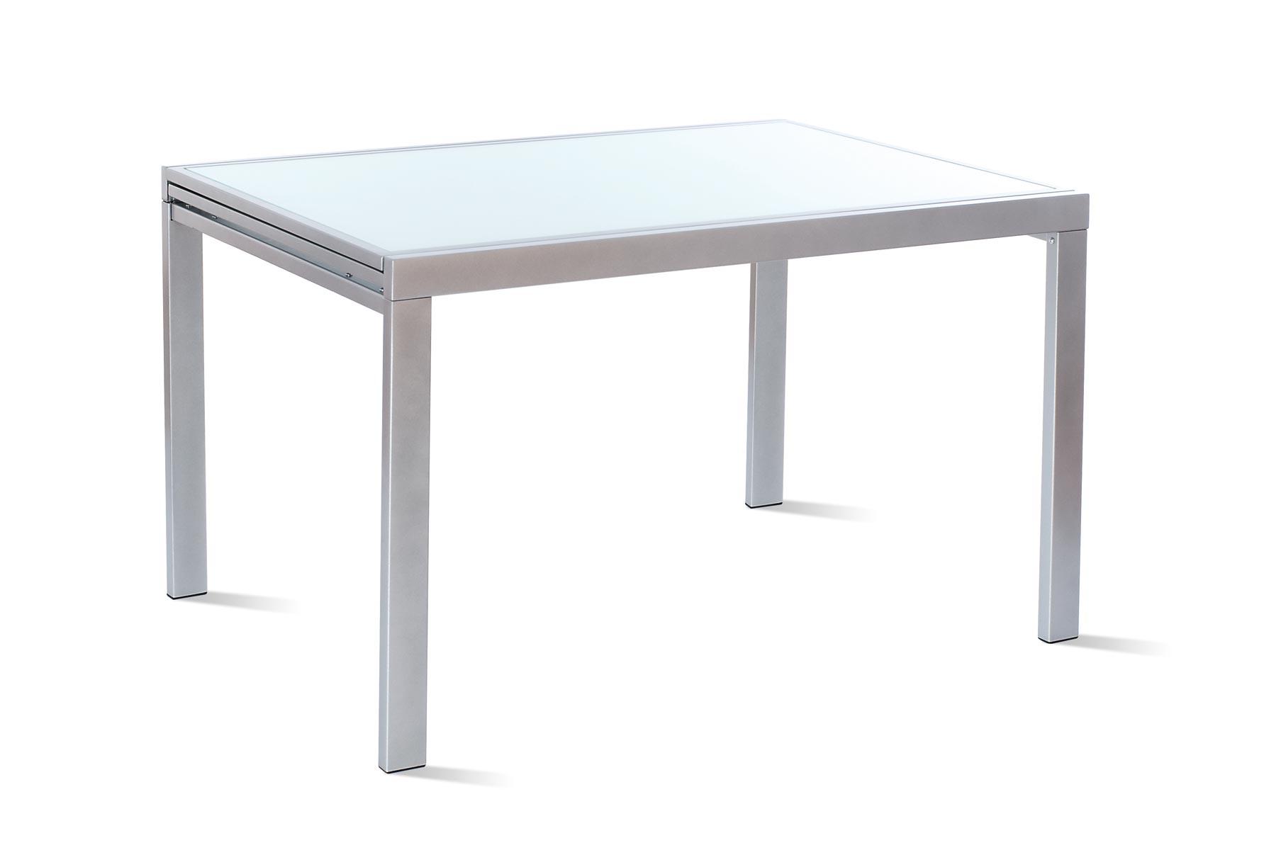 Mesa extensible cristal templado mesas de comedor muebles - Mesas cristal templado ...