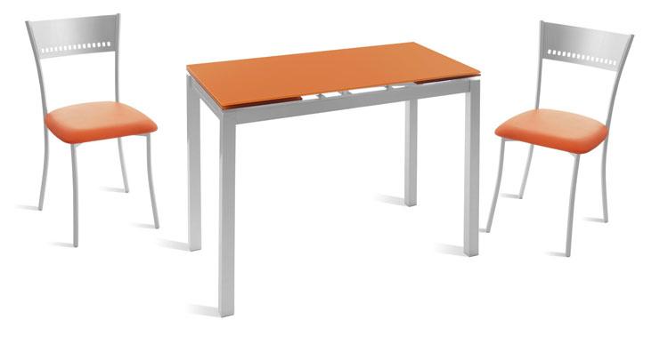 mesa extensible cristal templado y silla comedor Cocina y Office ...