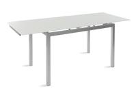 Mesa extensible cristal templado y silla comedor
