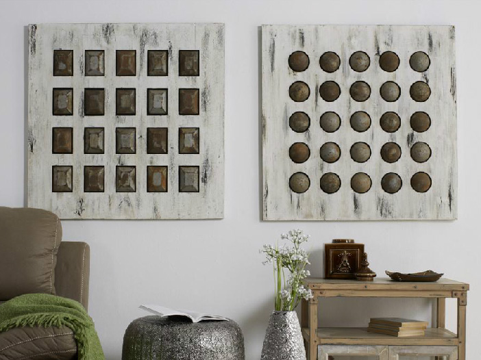 Set de 2 cuadros piezas geométricas - Precio por unidad